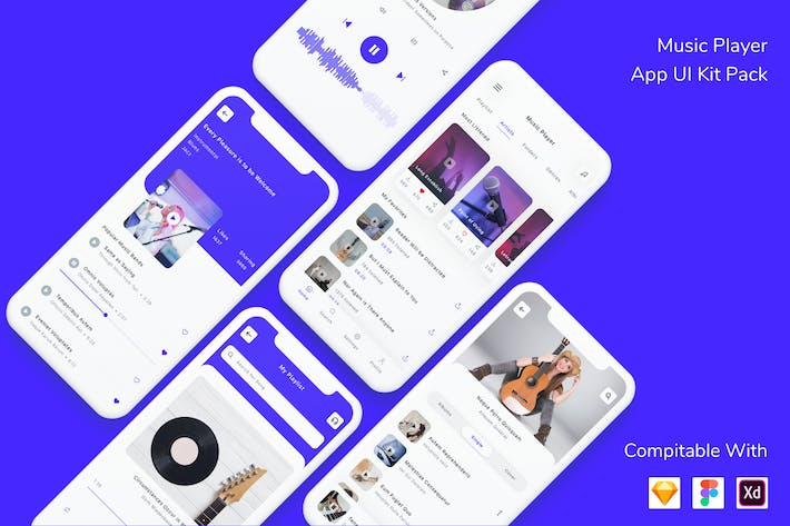 Thumbnail for Music Player App UI Kit Pack