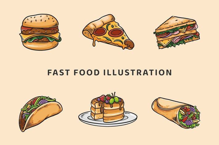 Thumbnail for Fast-Food-Illustration