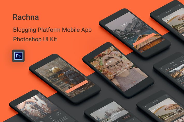 Thumbnail for Rachna - Blogging Platform Photoshop UI Kit