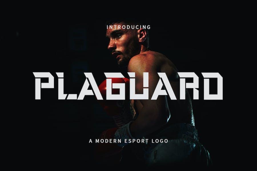 Plaguard - A Modern Esport Typeface DR