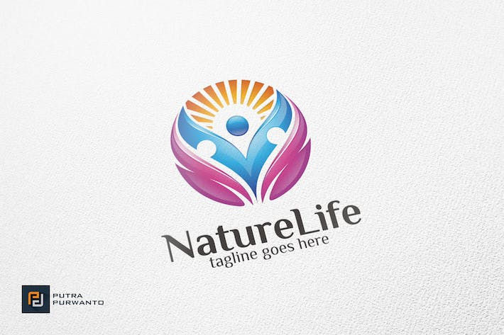 Cover Image For Nature Life / Human - Logo Template