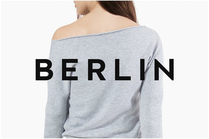 Cover Image For BERLIN - Minimal Sans-Serif Typeface + Web Font
