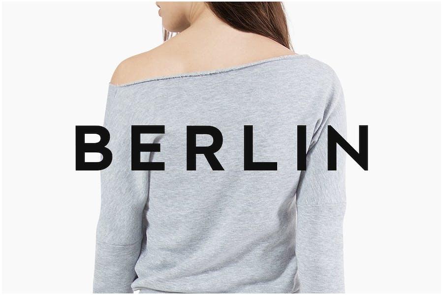 BERLIN - Minimal Sans-Serif Typeface + Web Font