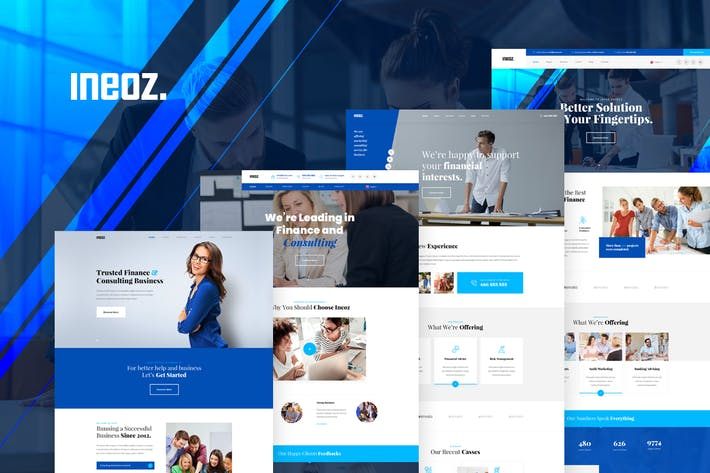 Thumbnail for Ineoz - Consulting & Finance Business PSD Template