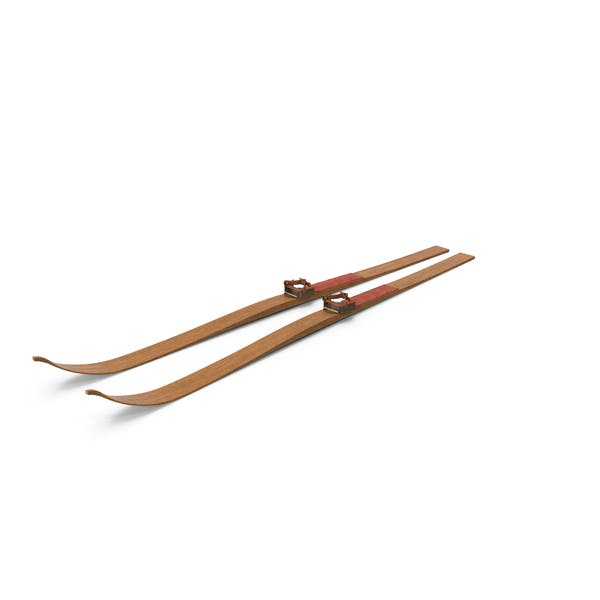 Antique Long Skis