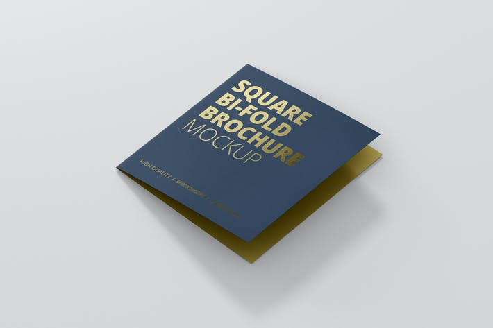 Thumbnail for Square Bi-Fold Brochure Mock-Up