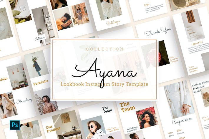 Thumbnail for Ayana - Lookbook Instagram Story Template