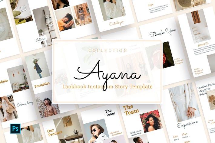 Thumbnail for Ayana - Plantilla de historia de Instagram Lookbook