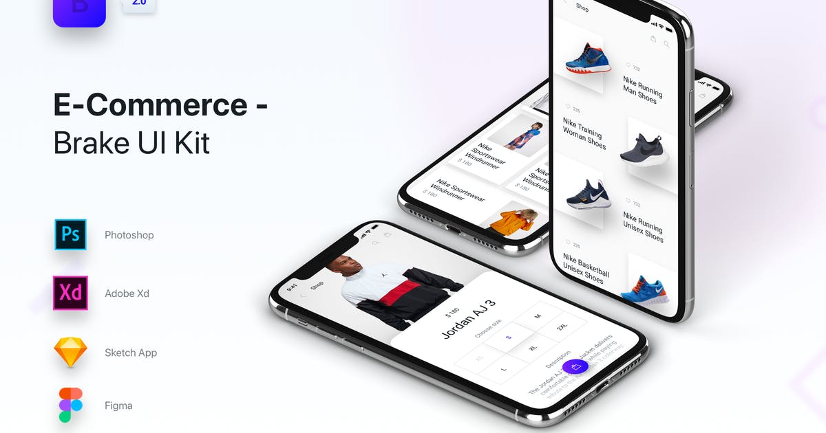 Brake UI Kit 2 0 - E-Commerce Shop Store by panoplystore on