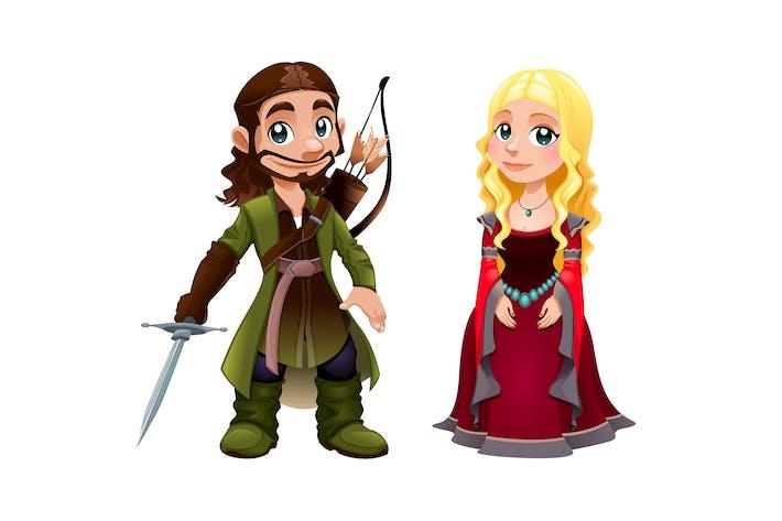 Thumbnail for Mittelalterliches Paar Ritter und Prinzessin