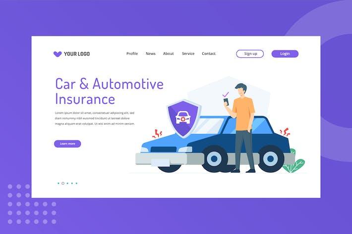 Page d'atterrissage de l'assurance automobile et aotomotive