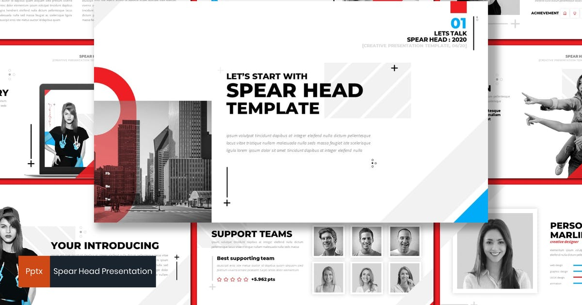 Download Spear Head - Powerpoint Template by inspirasign
