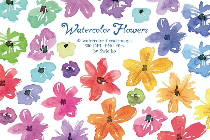Thumbnail for Simple Watercolor Flowers
