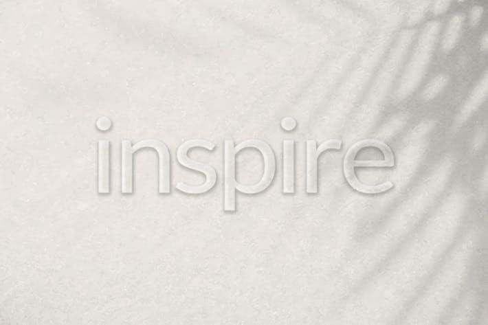 Word inspire embossed vector typography font