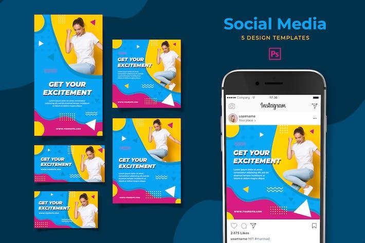 Thumbnail for Fitness Training Social Media Pack