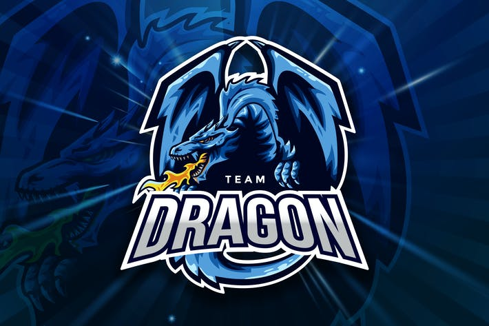 Thumbnail for Team Dragon Sport And Esport Logo Vector Template