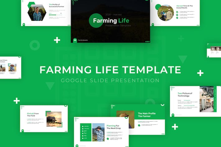 Thumbnail for Farming Life - Google Slide Template