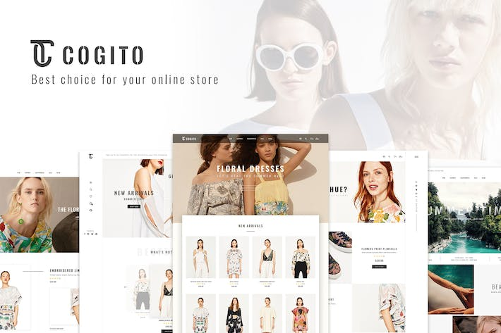 Thumbnail for Cogito_PSD Ecommerce Template