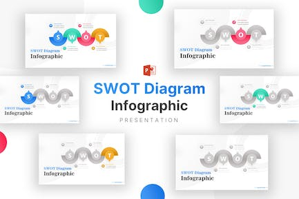 Creative Shapes SWOT Analysis Infographic