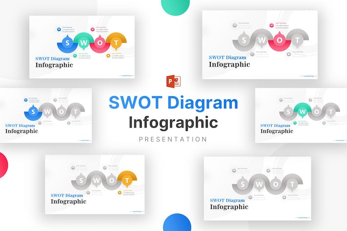 Thumbnail for Creative Shapes SWOT Analysis Infographic