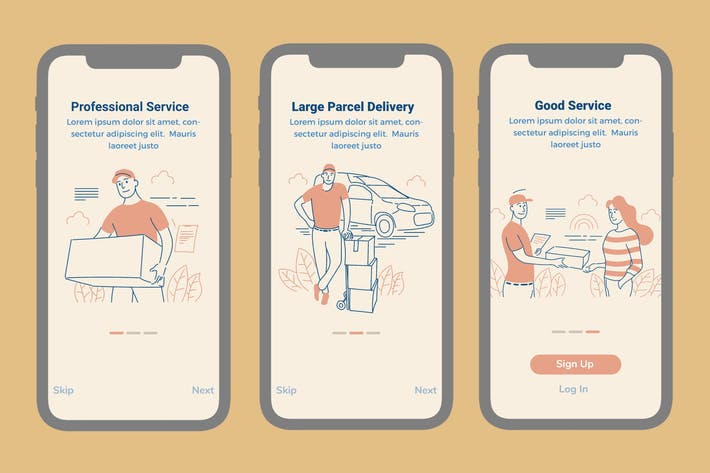 Thumbnail for Onboarding Screen For Delivery Services Apps