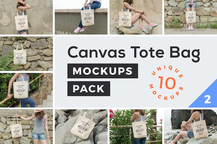 Cover Image For Canvas Tote Bag Mockups Pack Vol. 2