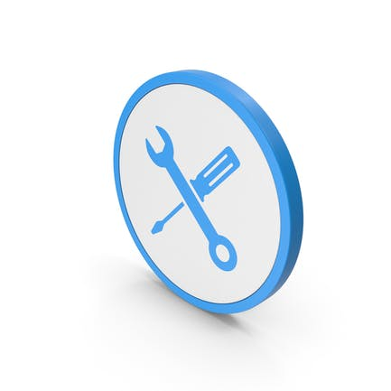 Icon Screwdriver And Wrench Blue
