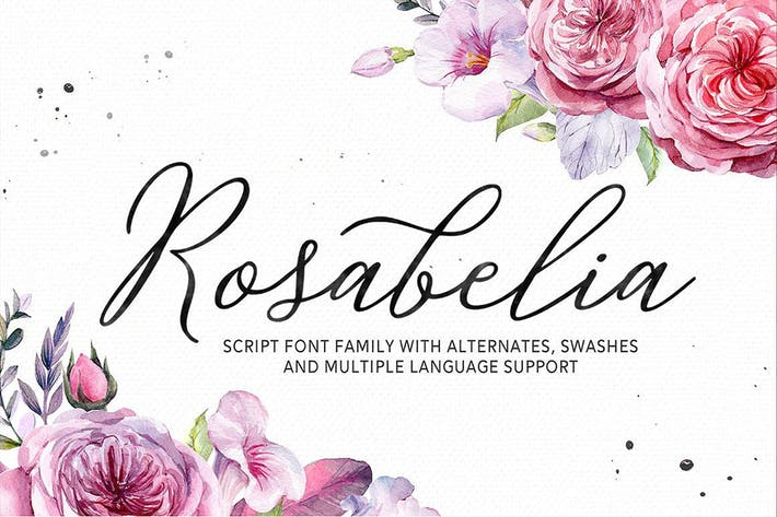 Thumbnail for Rosabelia - Script & Sans Serif