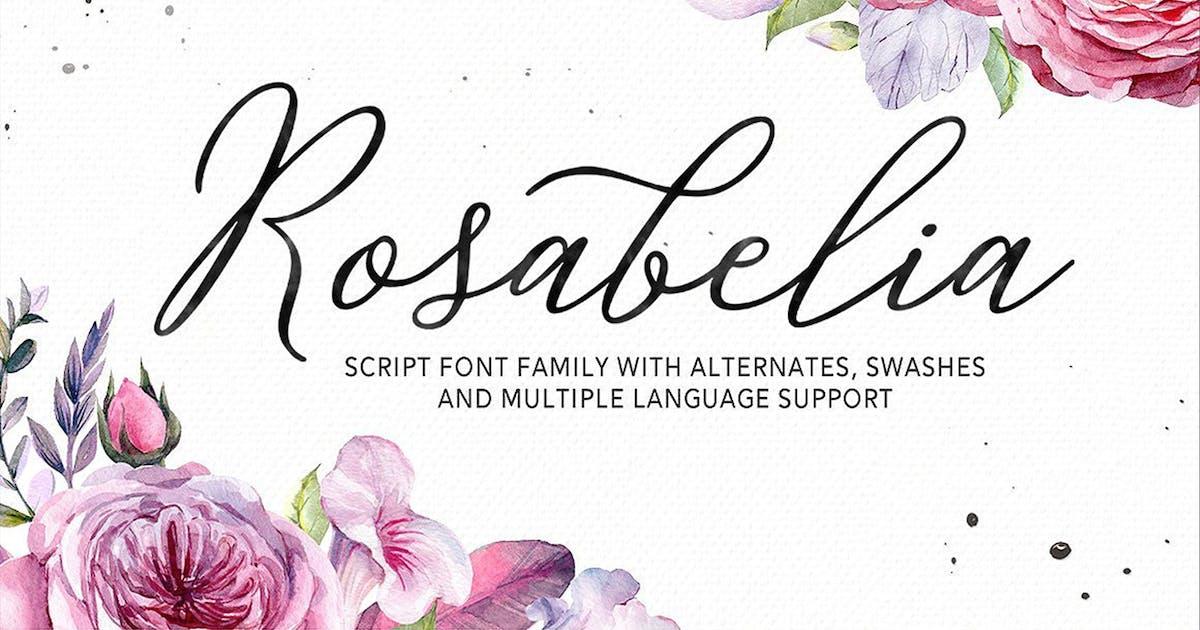 Download Rosabelia - Script & Sans Serif by Solidtype