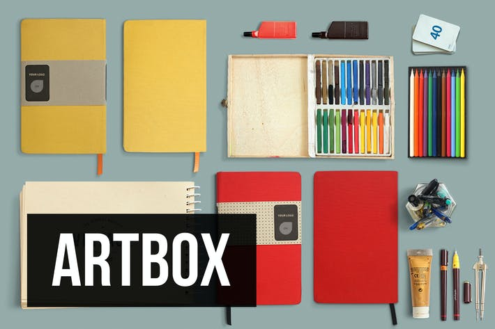 Thumbnail for ArtBox - Artistic Mockup Kit