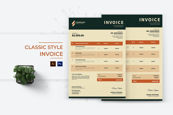 Thumbnail for Classic Style Invoice