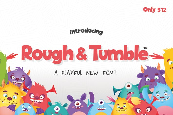 Thumbnail for Rough & Tumble Font