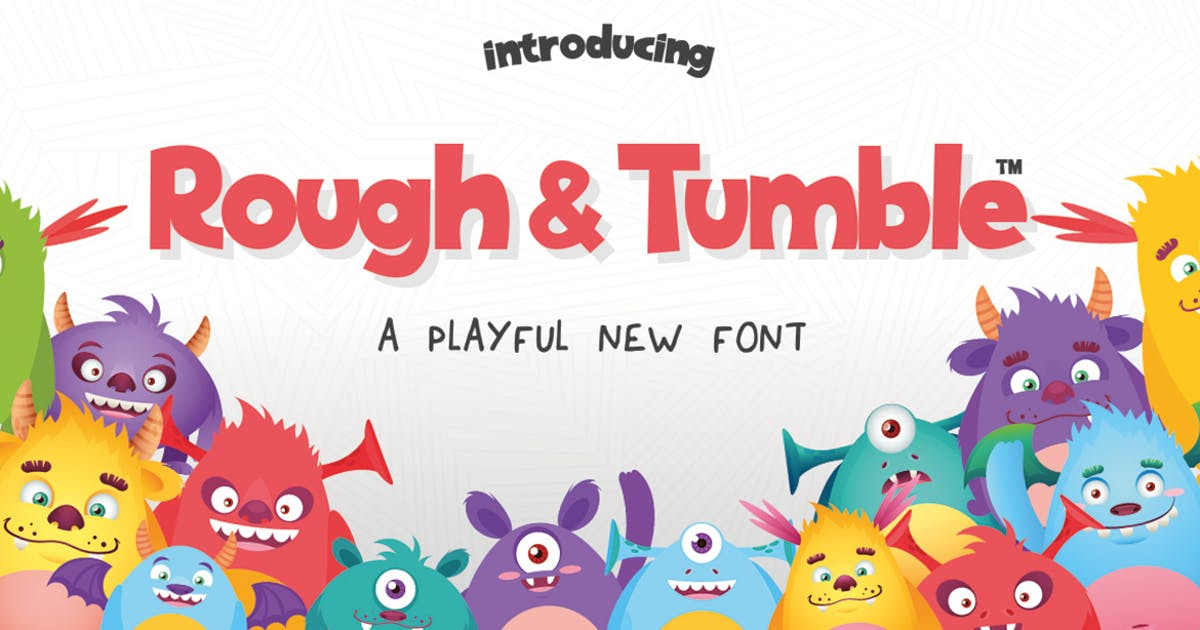 Rough & Tumble Font by maroonbaboon