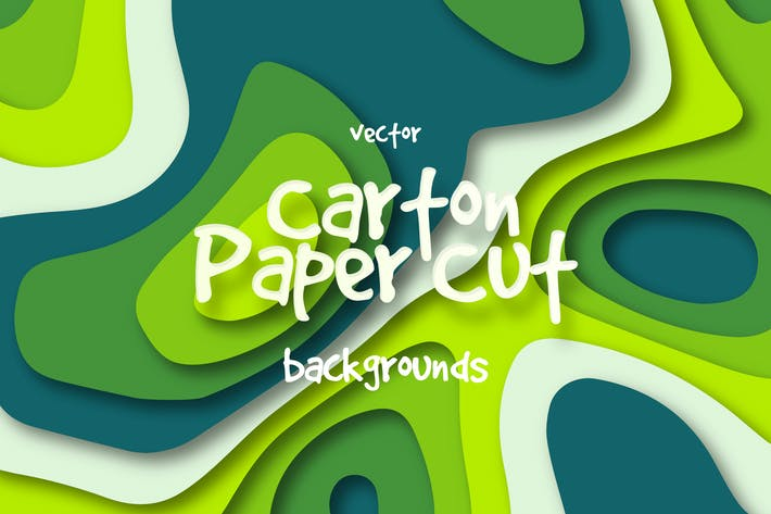 Thumbnail for Colorful Cardboard Paper Cut Vector Backgrounds