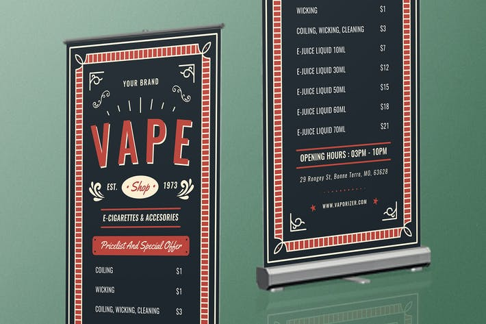 Thumbnail for Vape Shop Roll Up Banner
