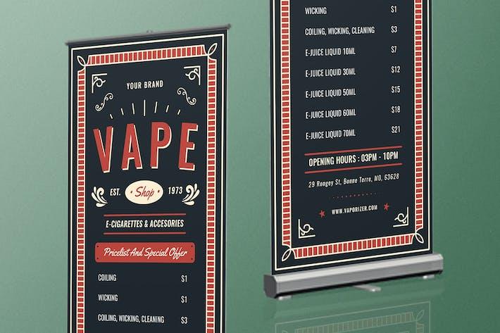 Thumbnail for Vape Shop Roll Up Banner