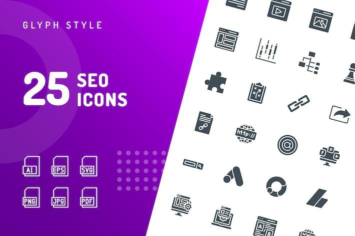 Thumbnail for SEO Glyphe Icons