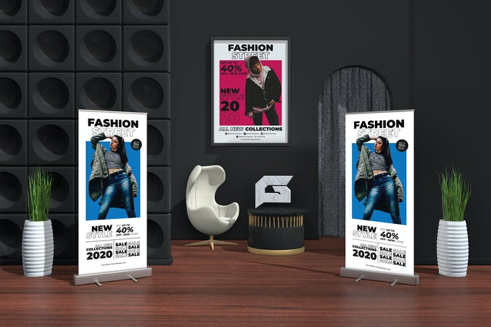 Thumbnail for Fashion Streetwear Roll-up Banner Promotion Set