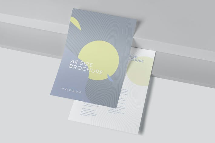 Thumbnail for One Page A4 Portrait Brochure Mockups