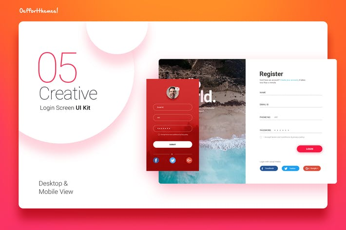 Thumbnail for Login Screen UI Kit
