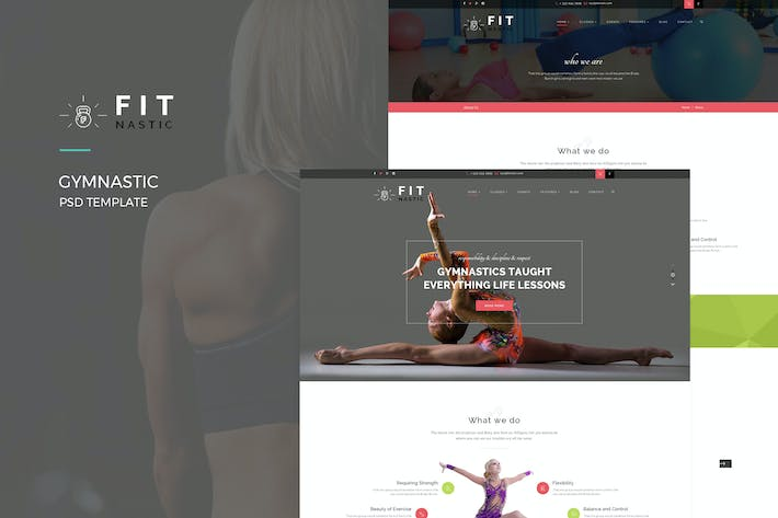 Thumbnail for Fitnastic – Gymnastic PSD Template