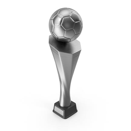 Silver Soccer Trophy Cup