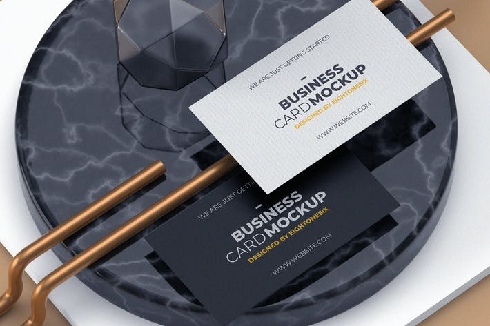 Thumbnail for Modern Experimental Business Card Mock-Up