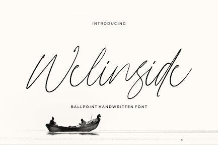 Welinside - a Handwritten Font