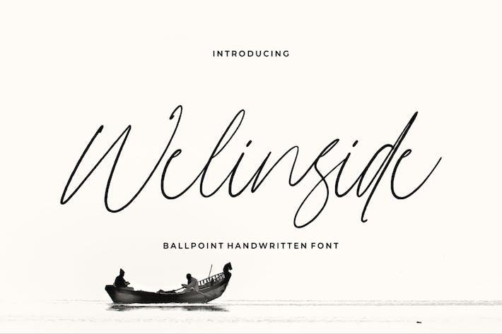 Thumbnail for Welinside - a Handwritten Font