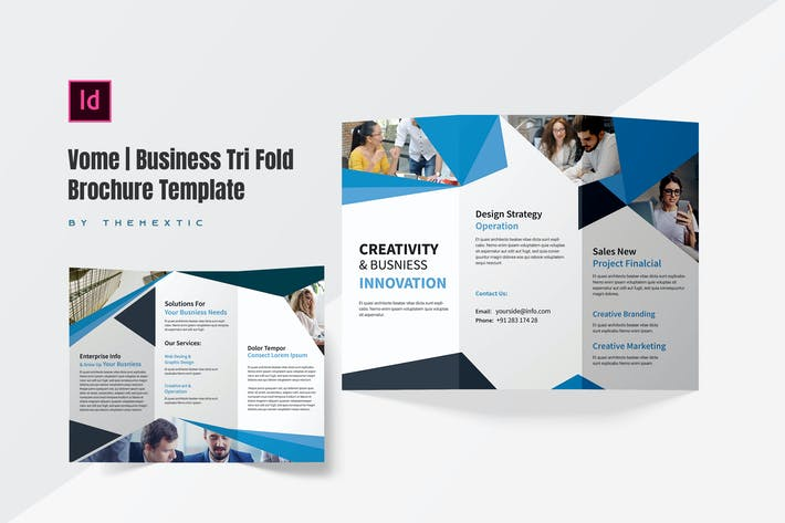 Thumbnail for Vome | Business Tri Fold Brochure Template