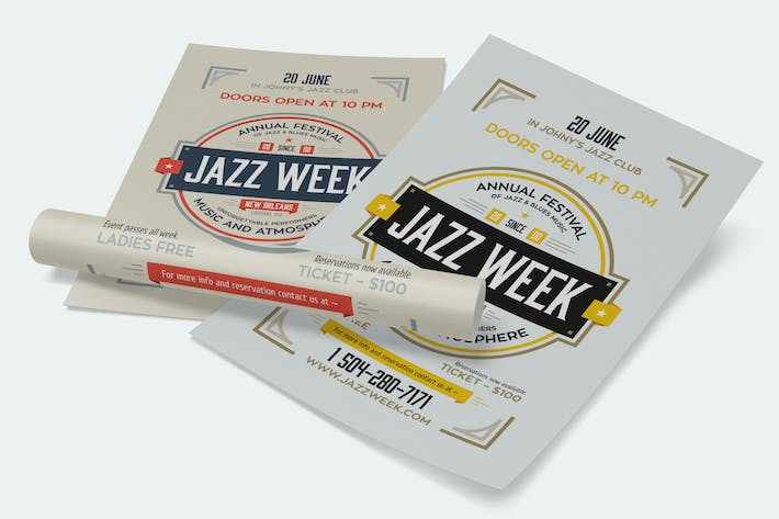 Thumbnail for Jazz Week Poster Template
