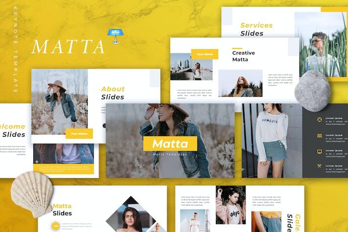 Thumbnail for MATTA - Творческий Шаблон Keynote