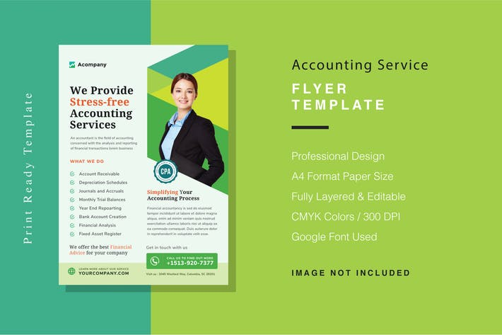 Thumbnail for Accounting Service Flyer Template