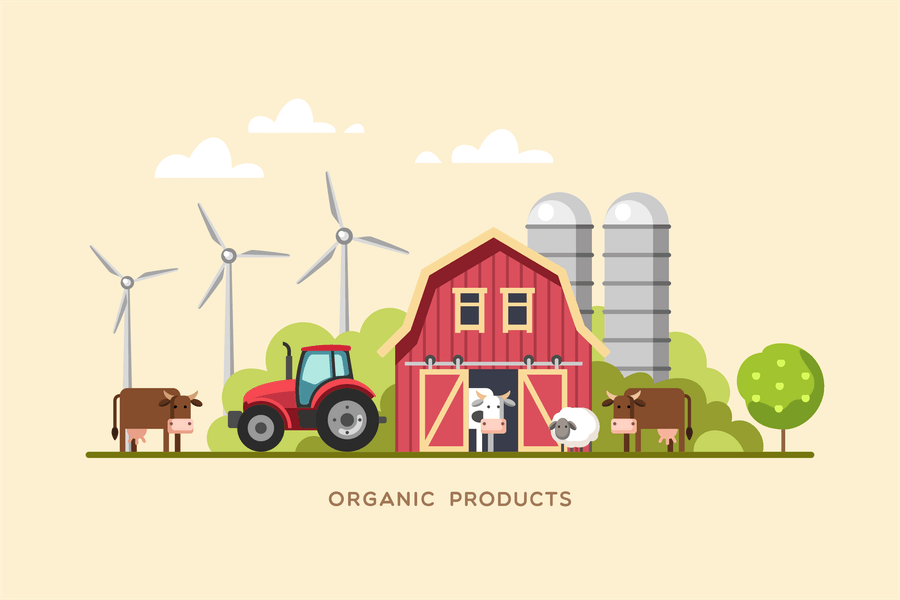 Organic Products Farm Fresh Products Concept